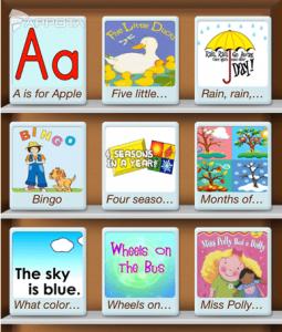 phần mềm tiếng Anh cho trẻ mẫu giáo bài hát