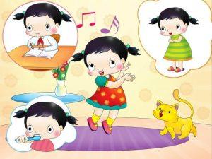 tiếng Anh 3 tuổi cho bé qua bài hát