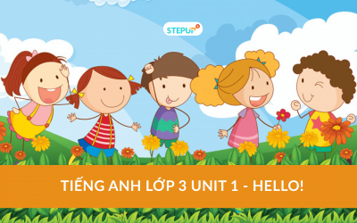 Tiếng Anh lớp 3 unit 1 – Hello!
