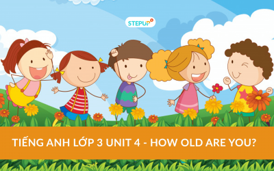 Tiếng Anh lớp 3 unit 4 – How old are you?