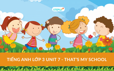 Tiếng Anh lớp 3 unit 7 – That's my school