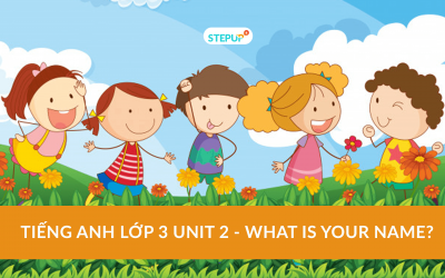 Tiếng Anh lớp 3 unit 2 – What is your name?