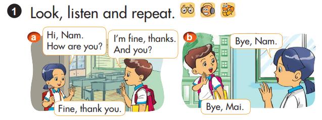 tiếng Anh lớp 3 unit 1 chương trình mới