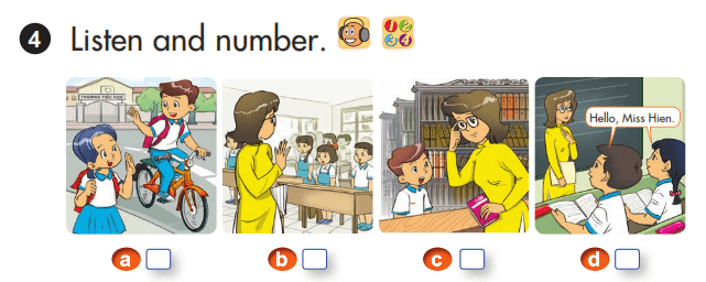 bài đánh số lớp 3 unit 1
