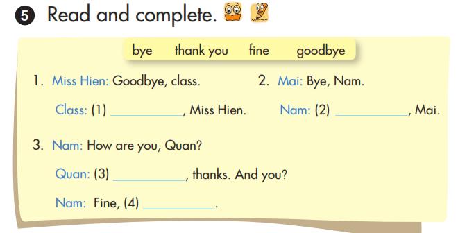 hoàn thành câu