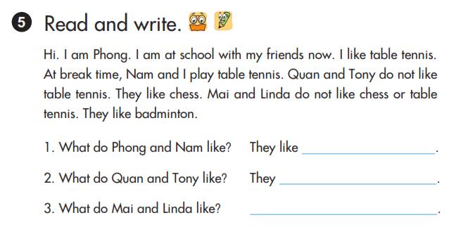 bài tập viết lesson 2