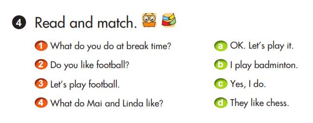 bài tập nối tiếng Anh lớp 3 unit 11