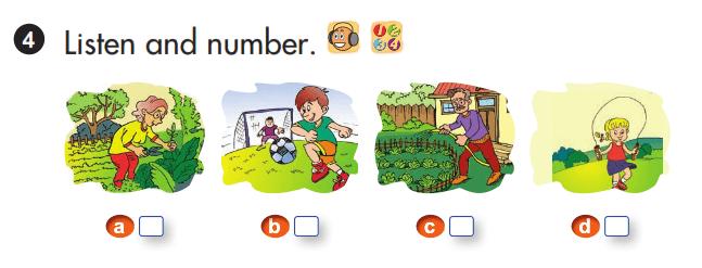 bài tập tiếng Anh lớp 3 unit 3 lesson