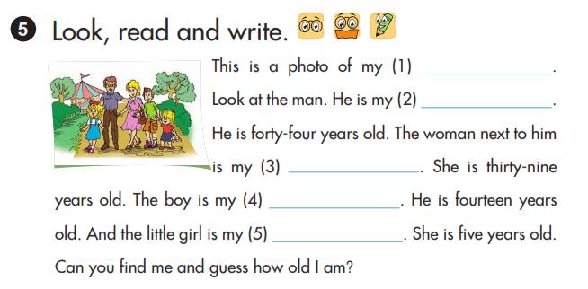 phần cuối sách tiếng Anh lớp 3 unit 11
