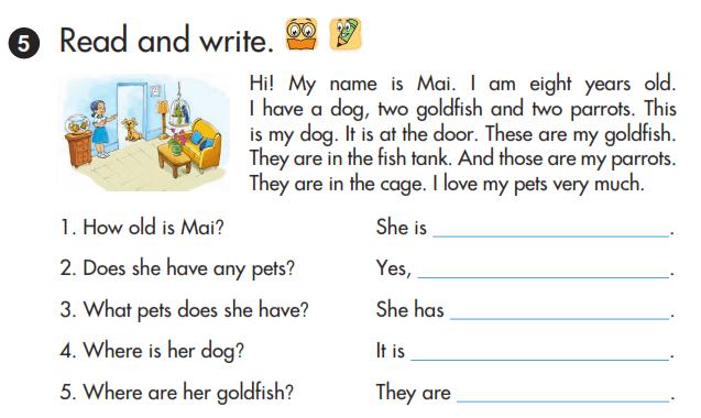 bài tập sách tiếng Anh lớp 3 unit 16