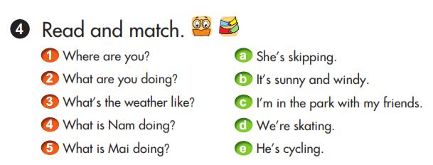 bài nối tiếng Anh lớp 3 unit 19