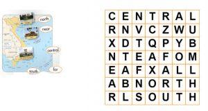trò chơi ô chữ sách bài tập tiếng Anh lớp 3 unit 20