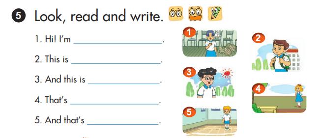 bài viết tiếng Anh lớp 3 unit 3