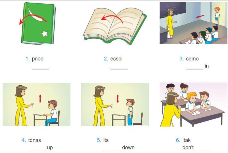 tiếng Anh lớp 3 unit 6 - giải sách bài tập