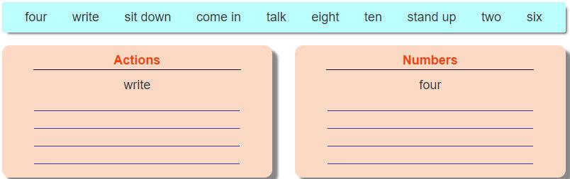 tiếng Anh lớp 3 unit 6 - lời giải