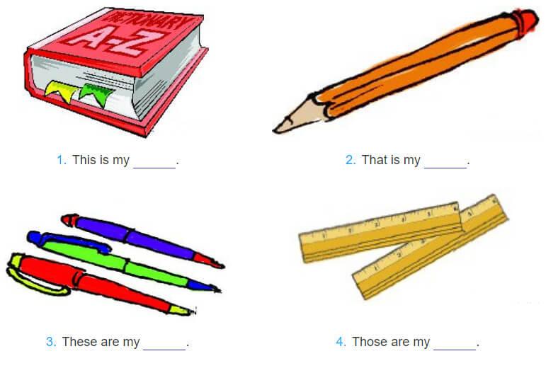 bài tập điền từ tiếng Anh lớp 3 unit 8