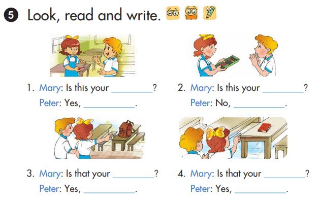 bài tập tiếng Anh lớp 3 bài 9