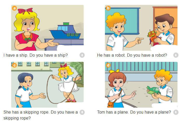 bài nói sách bài tập tiếng Anh lớp 3 unit 15