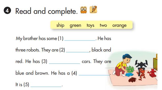 bài tập đọc tiếng Anh lớp 3 unti 15