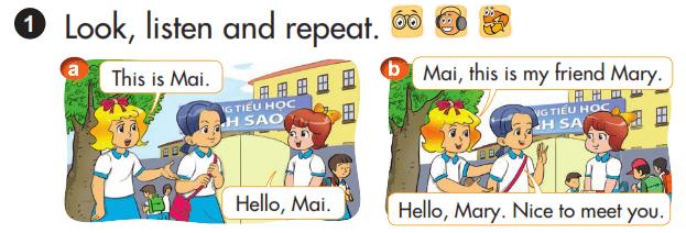 tiếng Anh lớp 3 bài 5 chương trình mới
