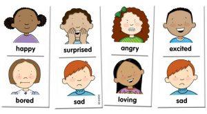 từ vựng tiếng Anh lớp 2 chủ đề trạng thái cảm xúc