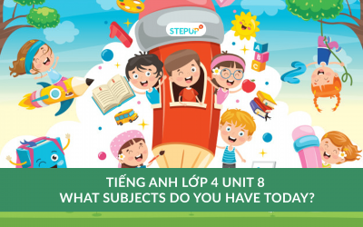Tiếng Anh lớp 4 unit 8 – What subjects do you have today?