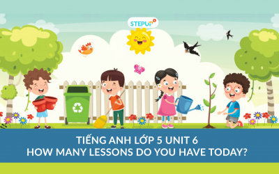 Tiếng Anh lớp 5 unit 6 –  How Many Lessons Do You Have Today?