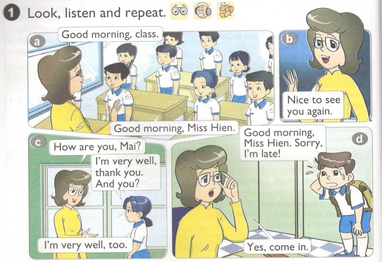 tiếng Anh lớp 4 unit 1