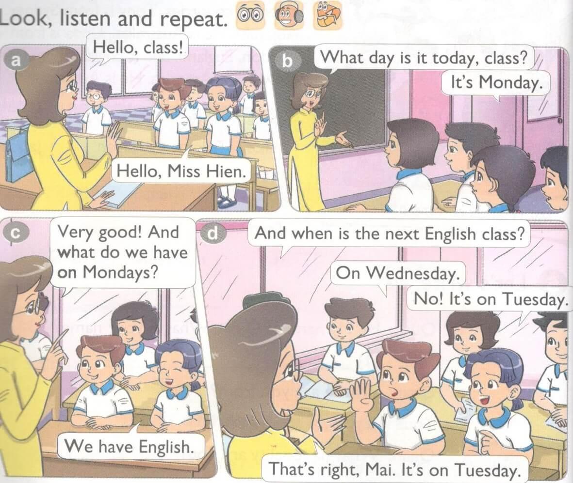 tiếng Anh lớp 4 unit 3