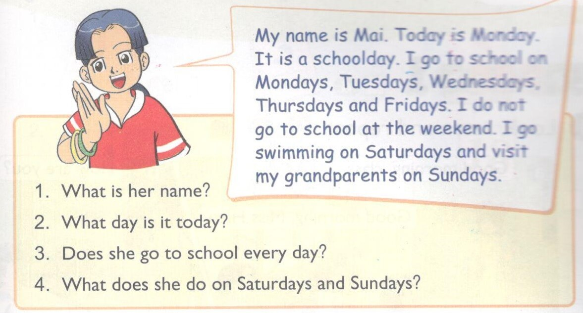 tiếng Anh lớp 4 bài 3 - lesson 3