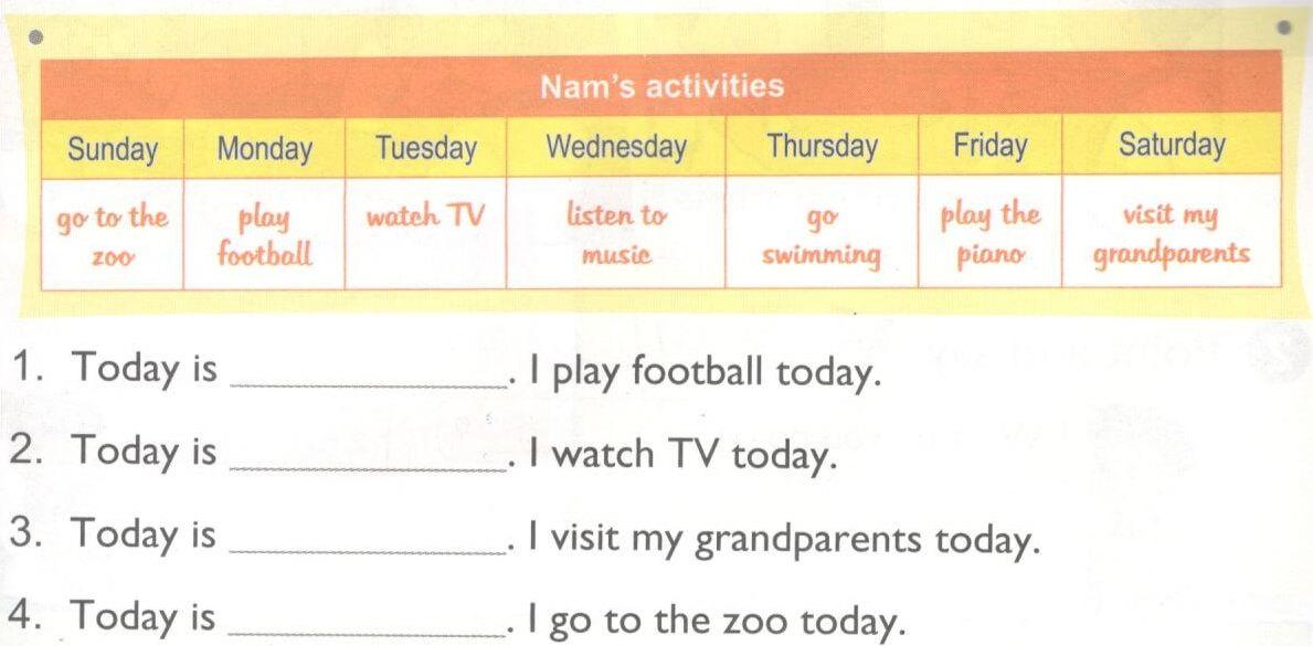 tiếng Anh lớp 4 unit 3 chương trình mới