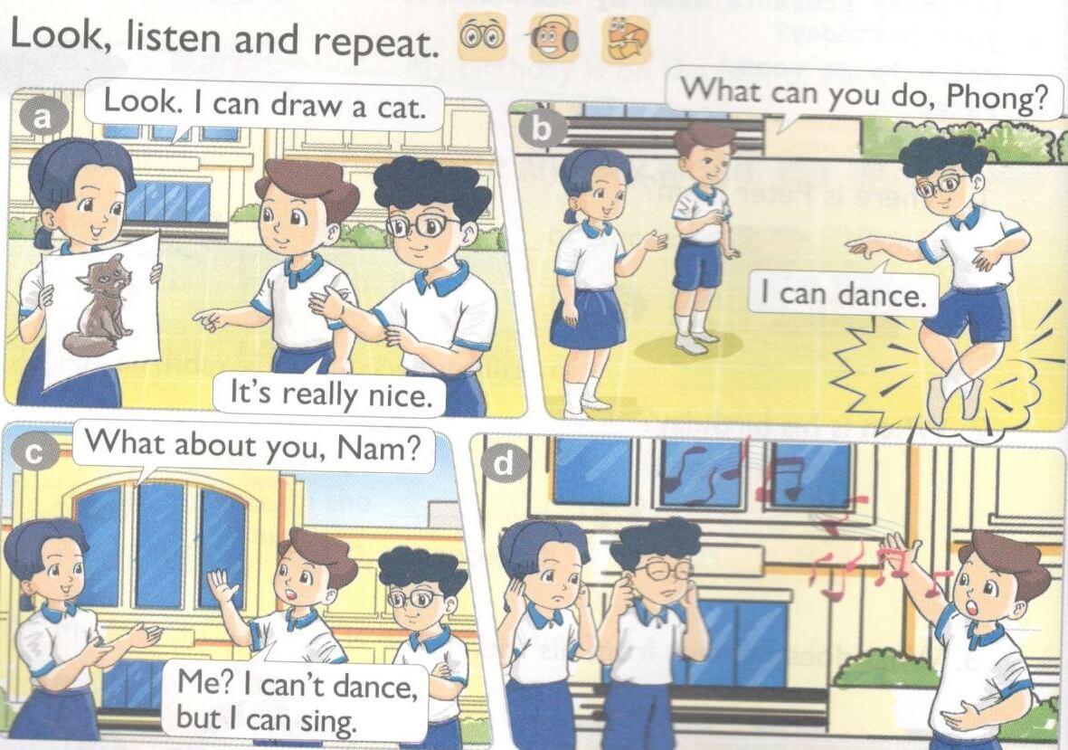 tiếng Anh lớp 4 unit 5