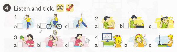 nghe và tick vào đáp án đúng - tiếng Anh lớp 5 unit 2
