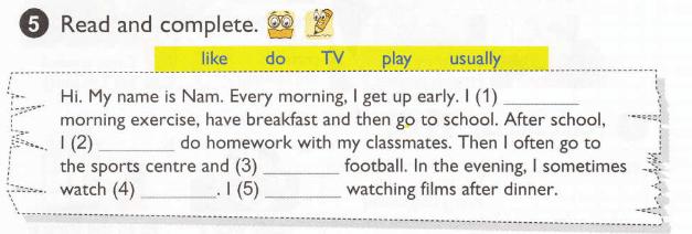 tiếng Anh lớp 5 unit 2 - giải bài tập sách giáo khoa