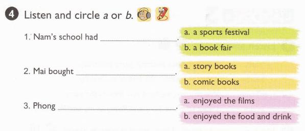 tiếng Anh lớp 5 unit 4 - lời giải