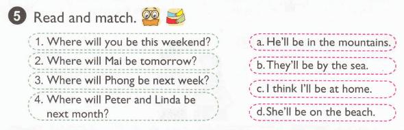đọc và nối các câu sau tiếng Anh lớp 5 unit 5