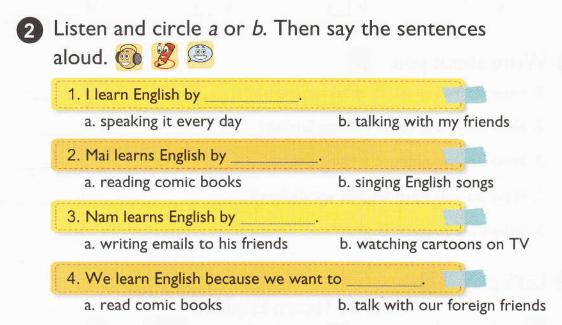 tiếng Anh lớp 5 bài 7 có đáp án