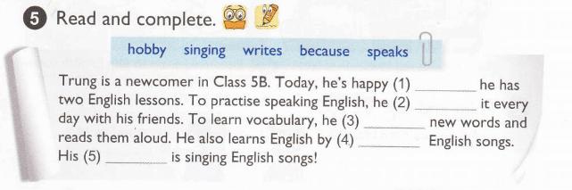 tiếng Anh lớp 5 bài 7